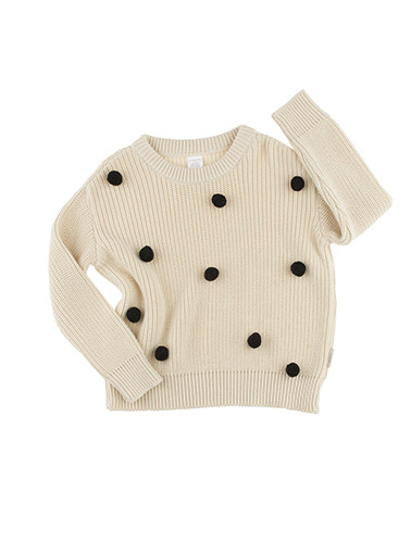 pom poms sweater oversized