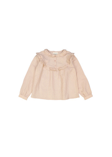 Tunic AMIE KID small check lurex pink