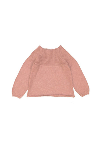 Pull AURORE KID mohair pink
