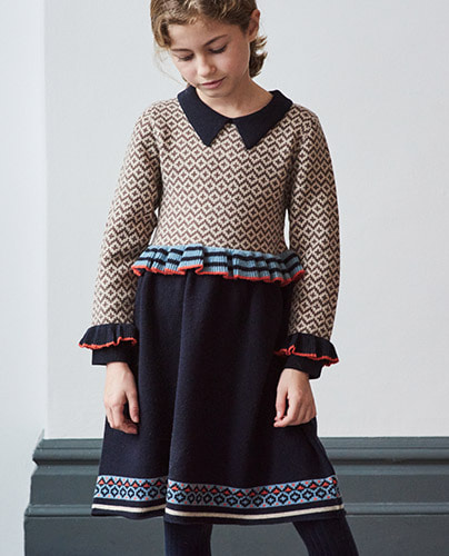 ZEUS CHILD DRESS_NAVY ( 6Y, 8Y, 10Y )