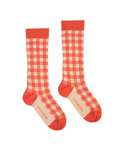 VICHY HIGH SOCKS_red