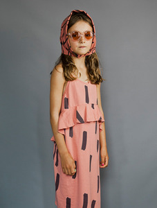 Jersey Squint Dress (Coral/Paintbrush)